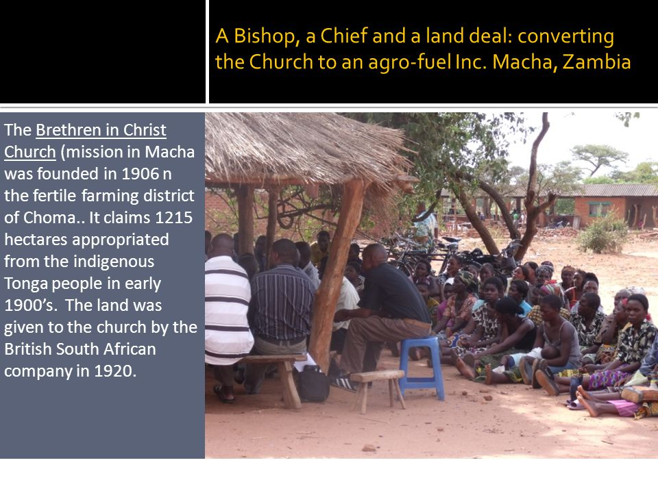 A Bishop, a Chief and a land deal: converting the Church to an agro-fuel Inc.