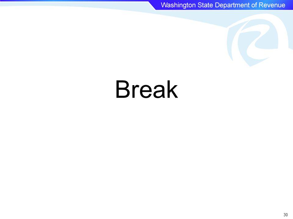 Break 30