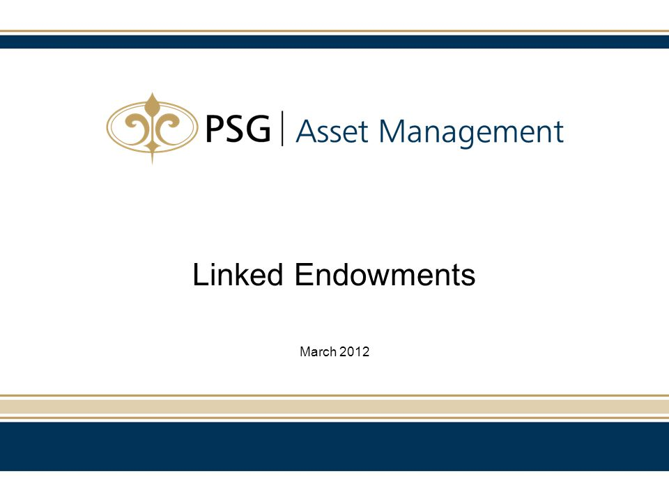 Linked Endowments March 2012