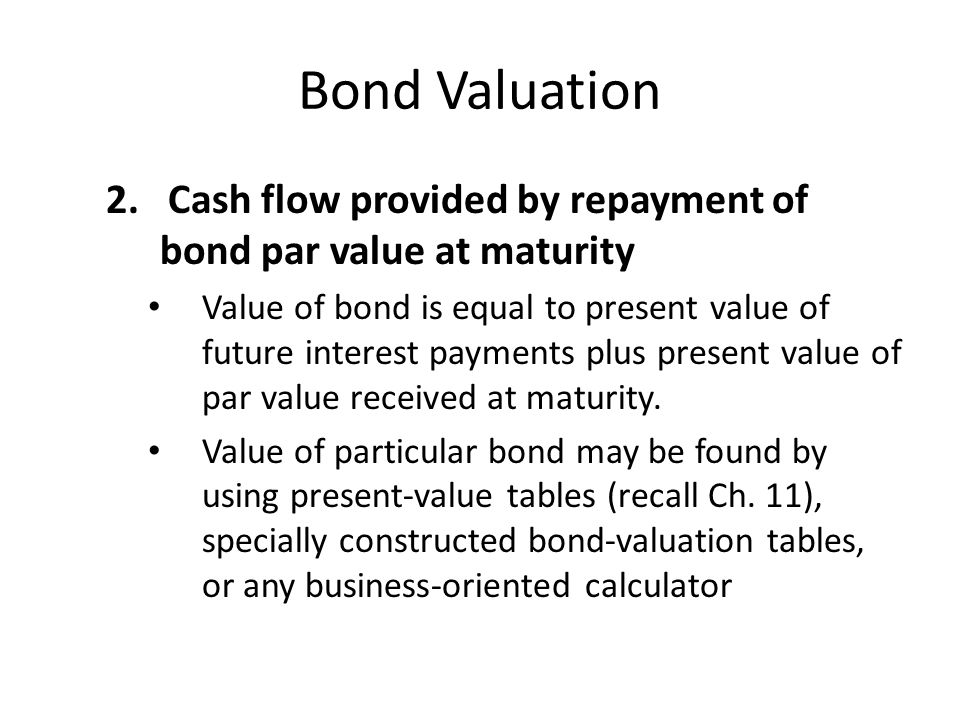 Bond Valuation 2.