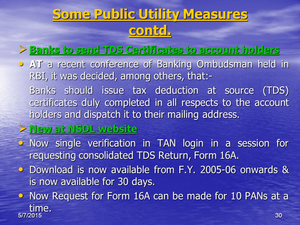 5/7/201530 Some Public Utility Measures contd.