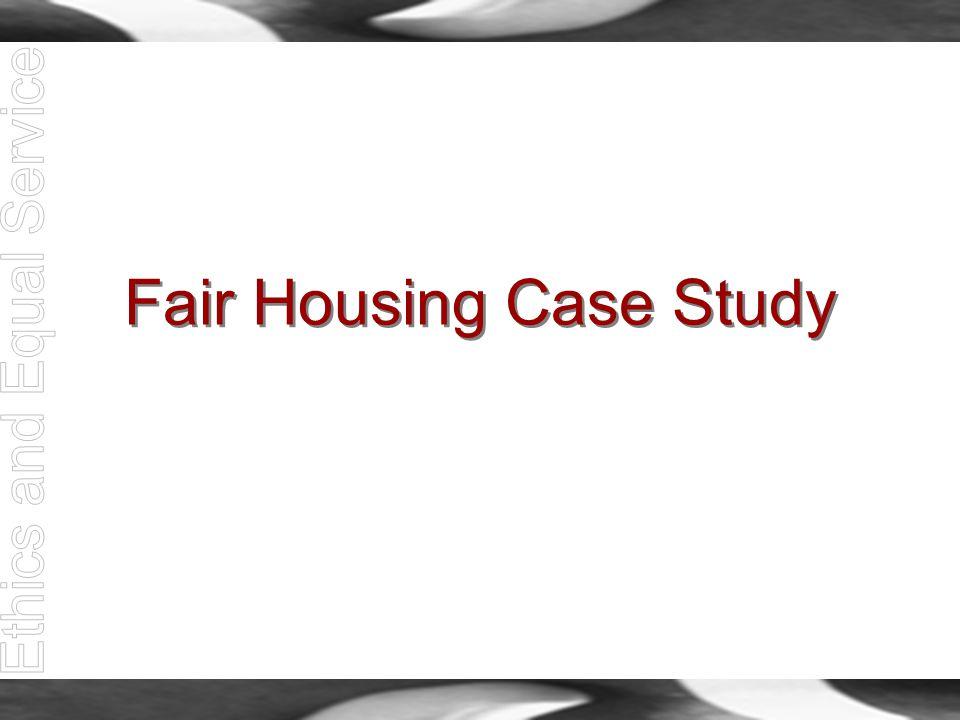 Fair Housing Case Study