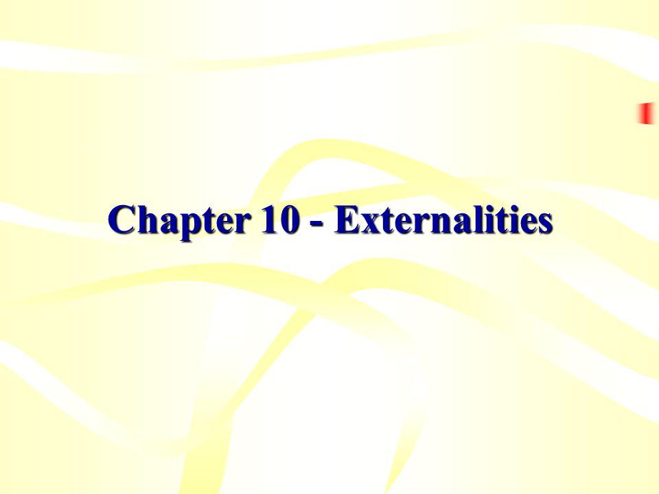 Chapter 10 - Externalities