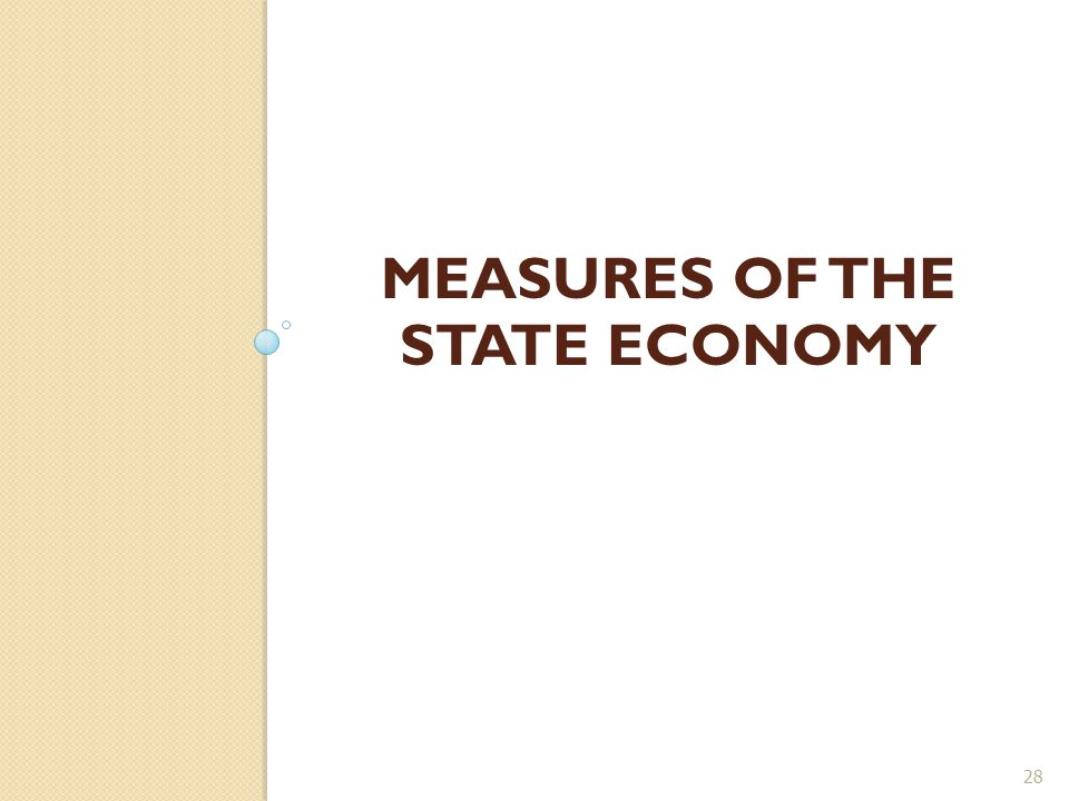 MEASURES OF THE STATE ECONOMY 28
