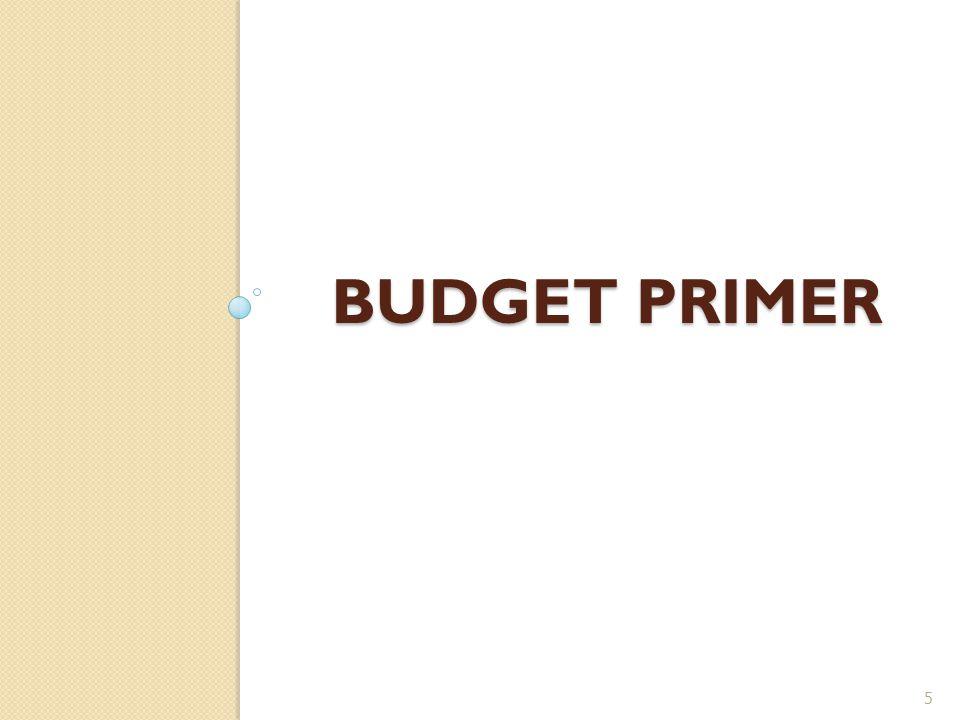BUDGET PRIMER 5