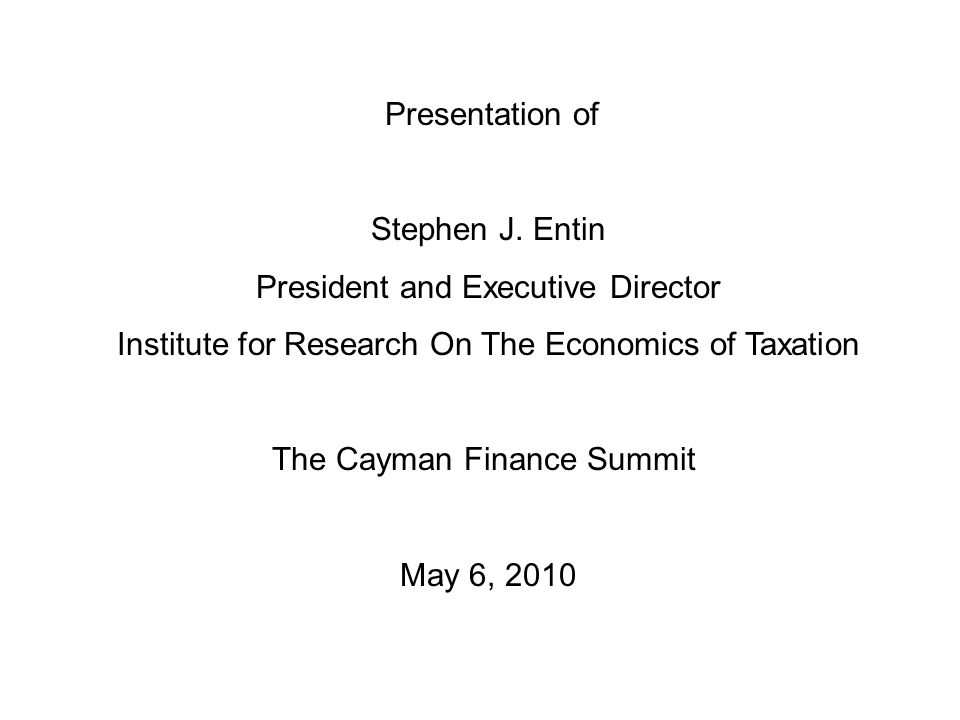 Presentation of Stephen J.