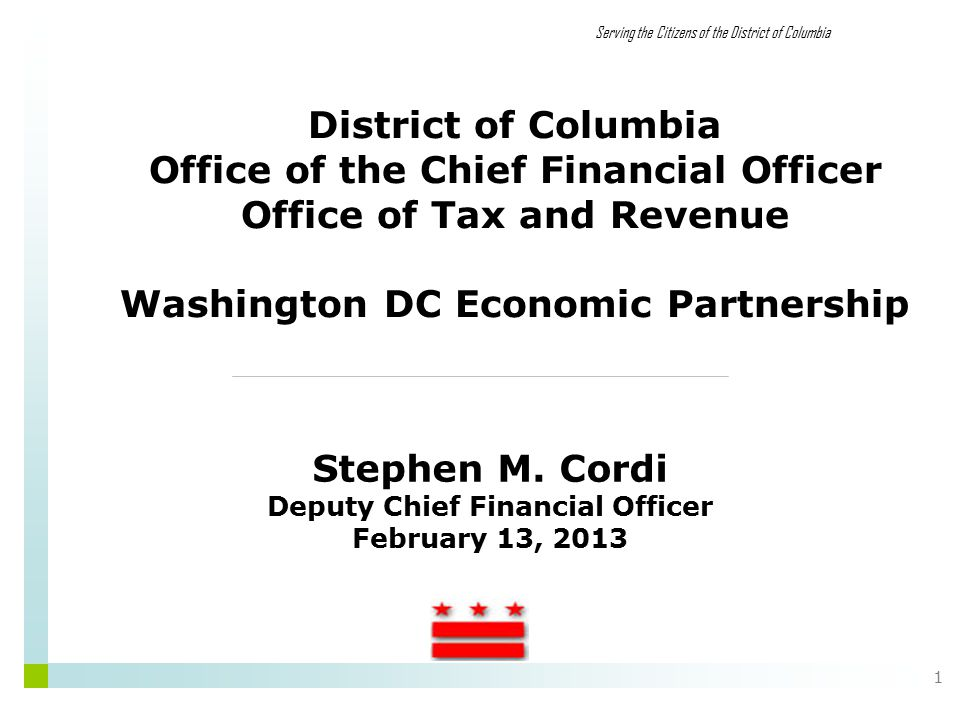 Office of Tax and Revenue 2 FY 2013 Tax Changes For each of the last 3 years, there have been significant tax changes as DC has tried to squeeze more money out of its tax system By last year, revenues were on the rise, so that the need for additional revenues diminished That has manifested itself in the form of both fewer and smaller tax changes