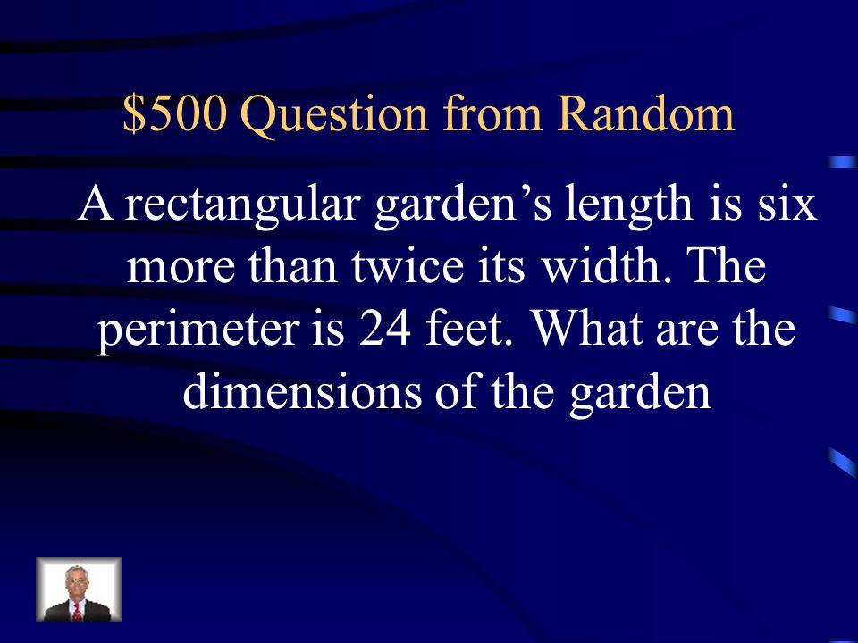 $400 Answer from Random k = -42