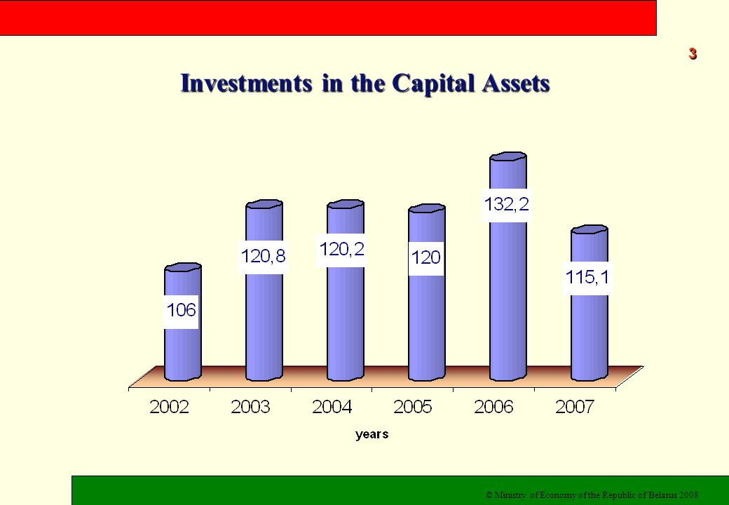 Investments in the Capital Assets 3 © Ministry of Economy of the Republic of Belarus 2008