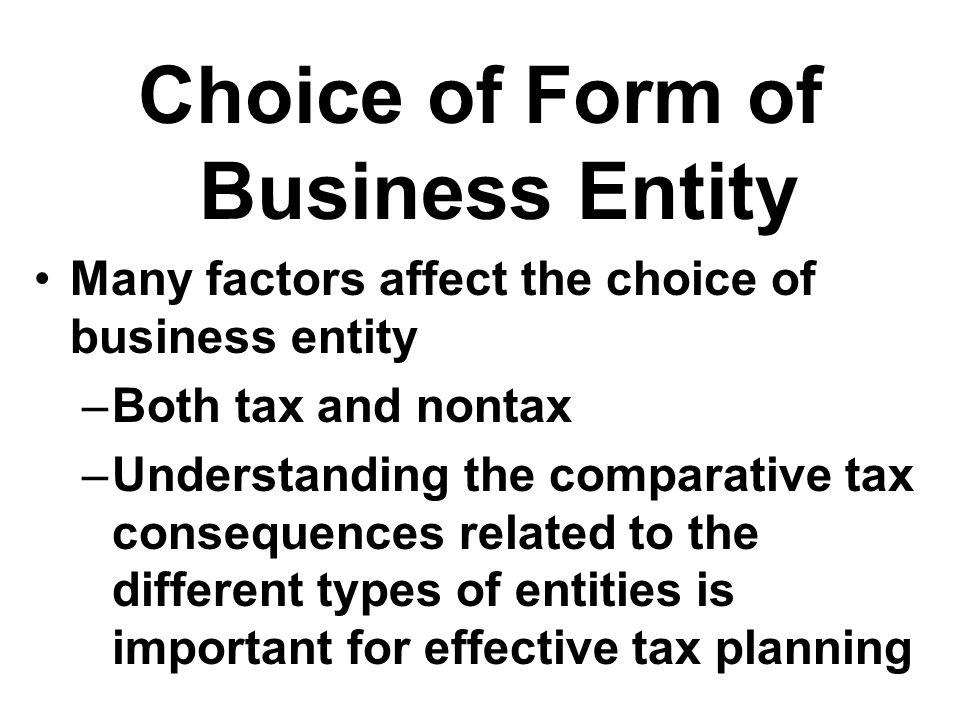 Forms of Doing Business Sole Proprietorship Partnership Limited liability co (LLC) C corporation S corporation