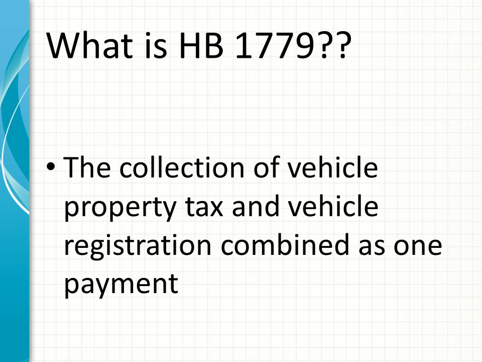 What is HB 1779 .