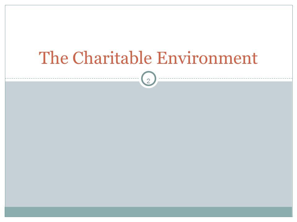 2 The Charitable Environment