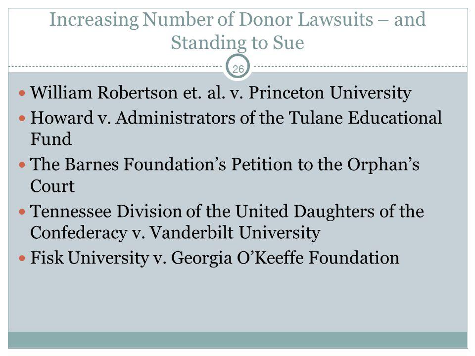26 William Robertson et. al. v. Princeton University Howard v.