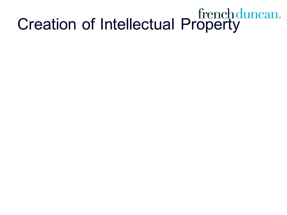 Creation of Intellectual Property