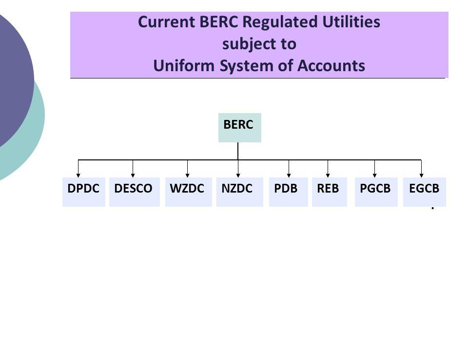 Current BERC Regulated Utilities subject to Uniform System of Accounts BERC DPDCDESCOWZDCNZDCPDBREBPGCBEGCB.