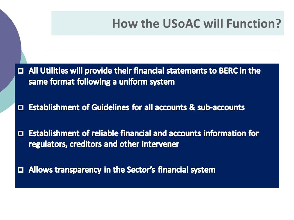 How the USoAC will Function