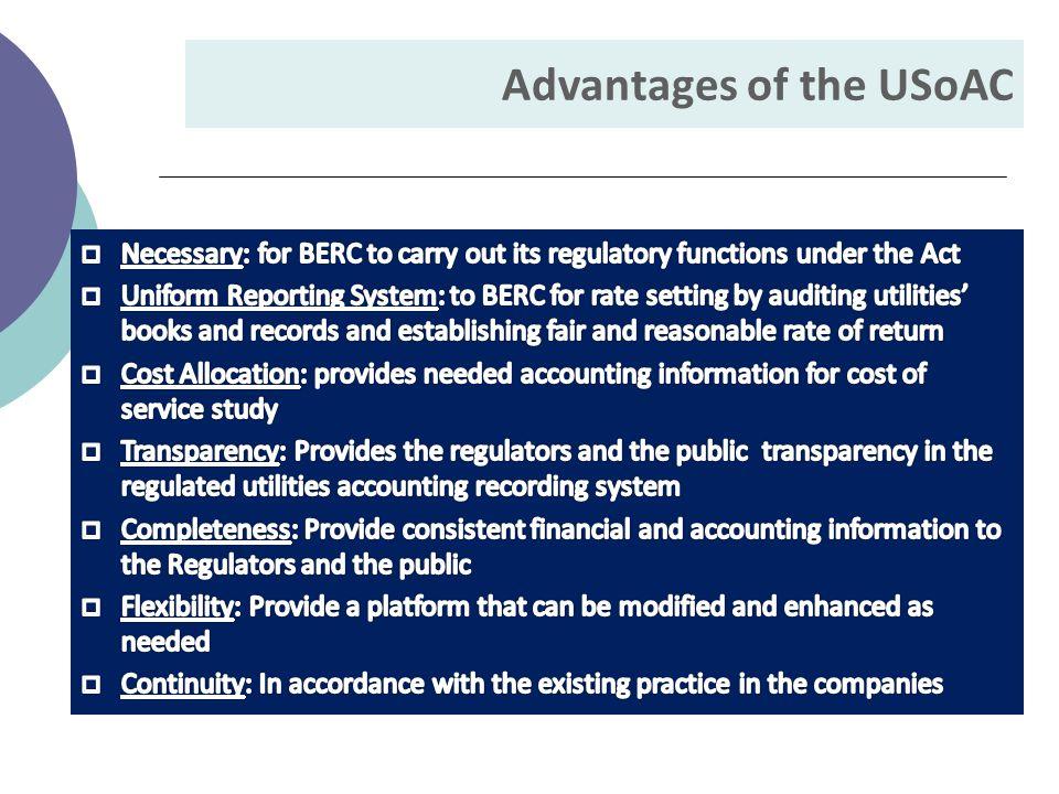 Advantages of the USoAC