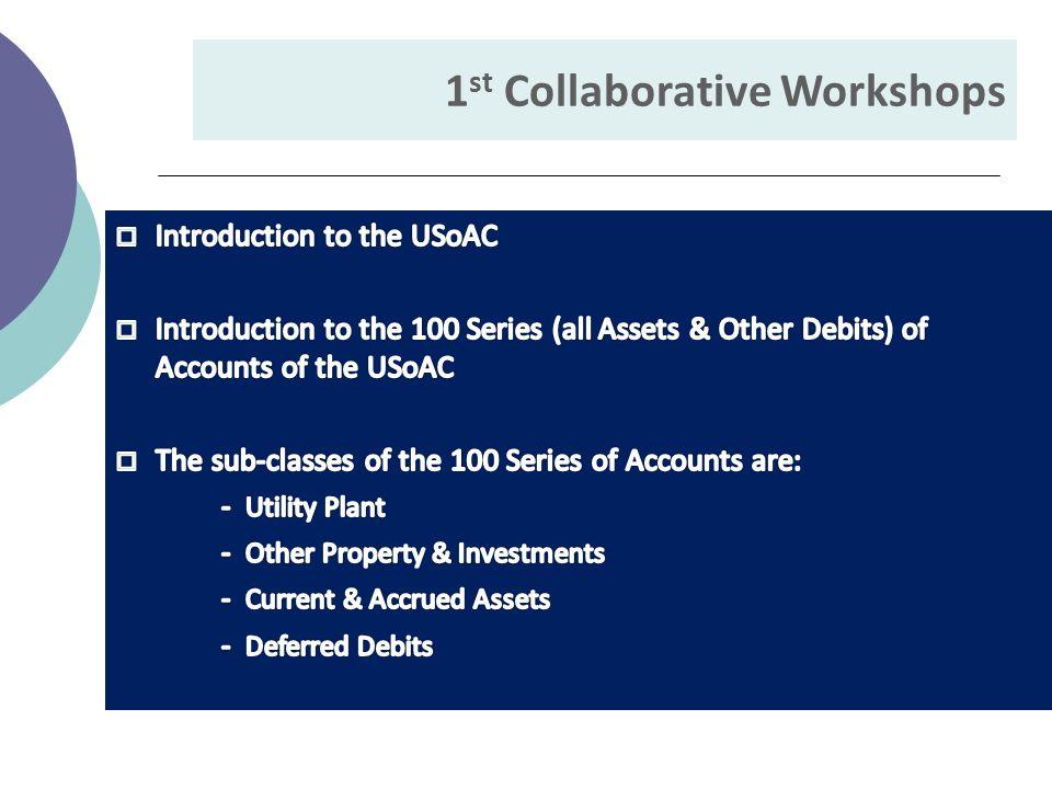 1 st Collaborative Workshops