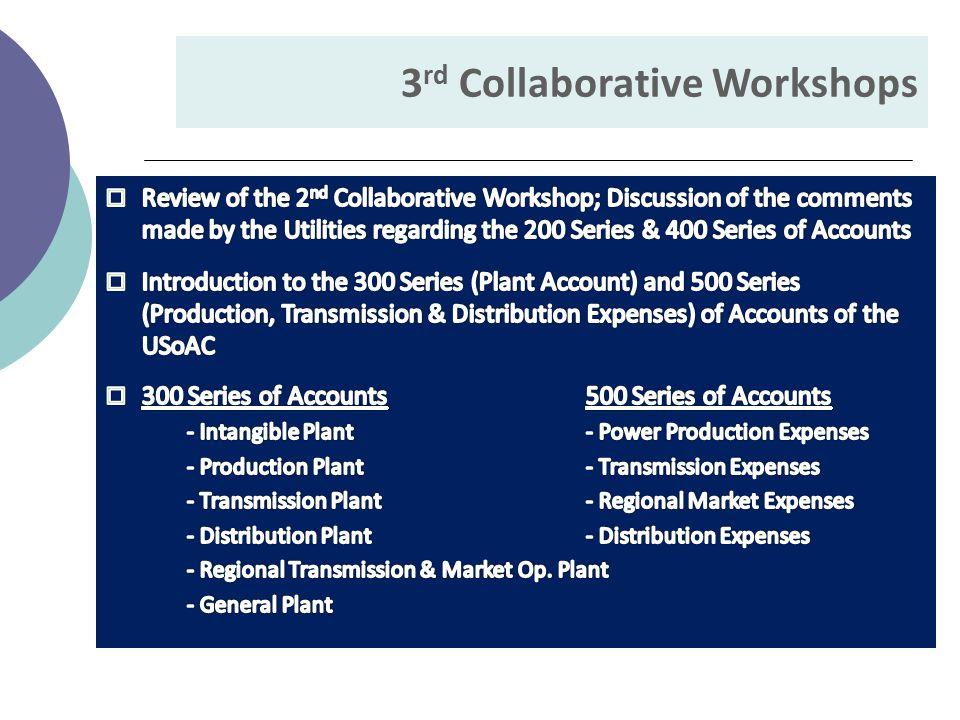 3 rd Collaborative Workshops