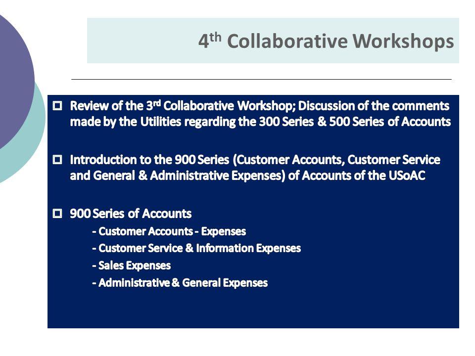 4 th Collaborative Workshops
