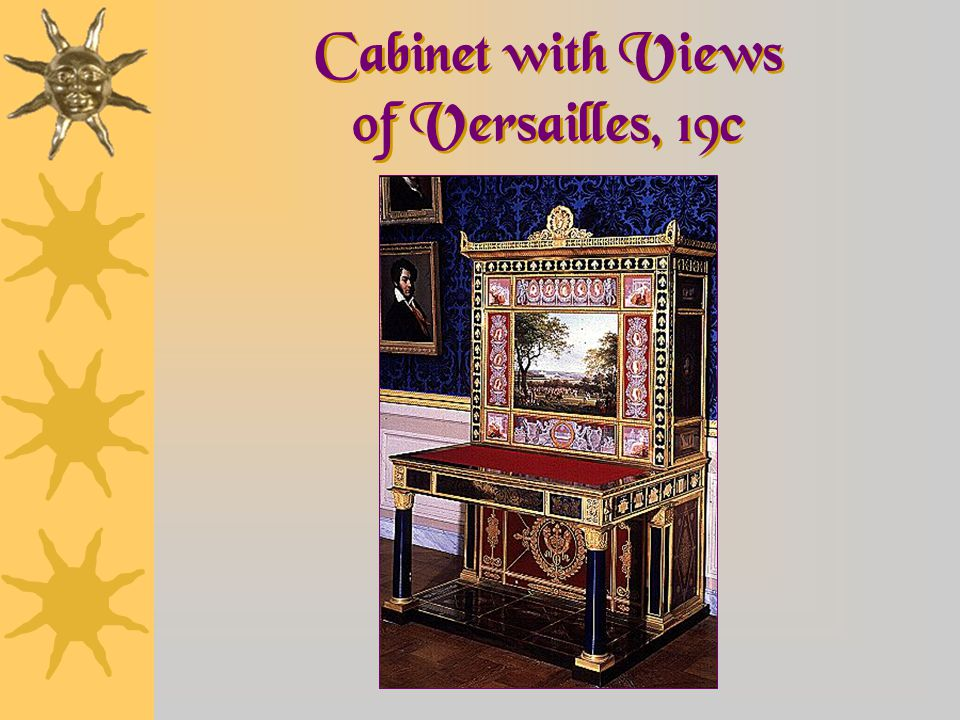 Cabinet with Views of Versailles, 19c