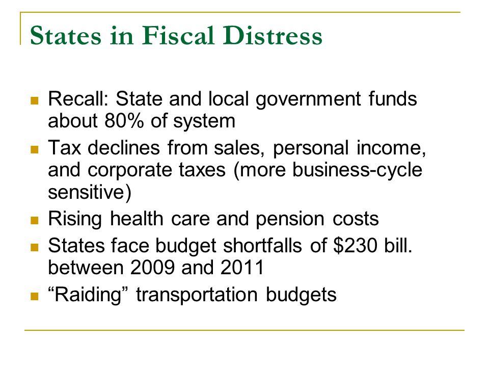 Highway financing needs are very high U.S.
