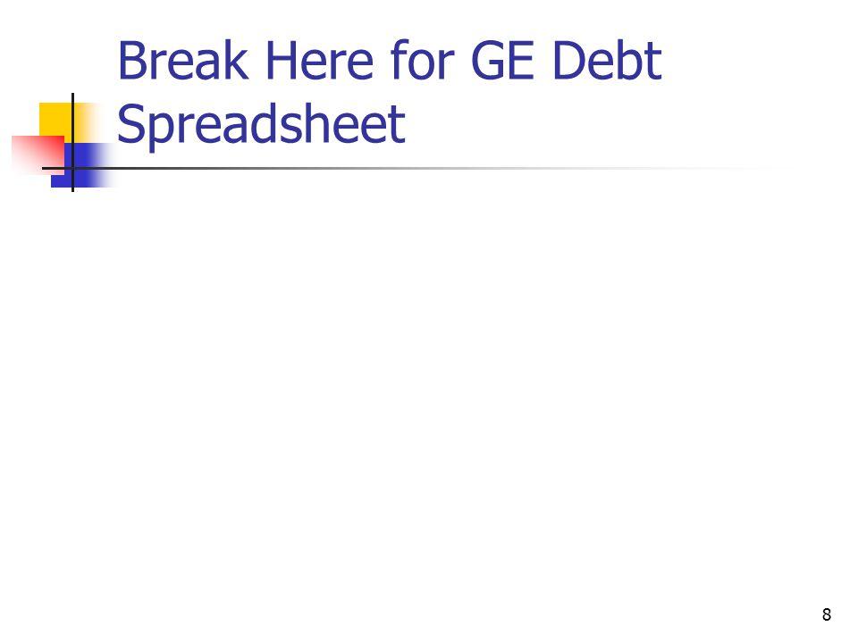 8 Break Here for GE Debt Spreadsheet