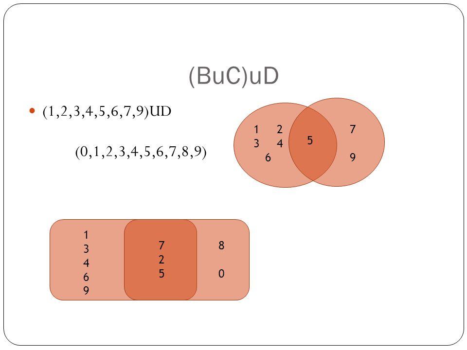 (BuC)uD (1,2,3,4,5,6,7,9)UD (0,1,2,3,4,5,6,7,8,9) 5 7979 1 2 3 4 6 8 08 0 725725 1346913469