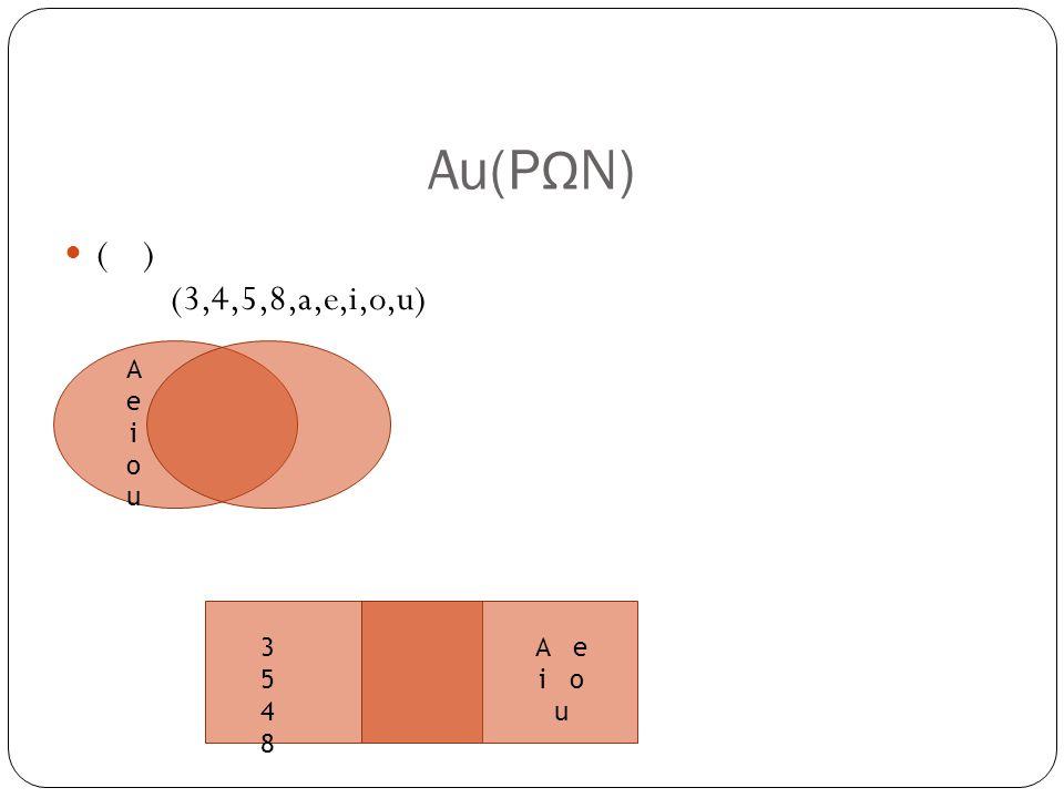 Au(P Ω N) ( ) (3,4,5,8,a,e,i,o,u) AeiouAeiou 35483548 A e i o u