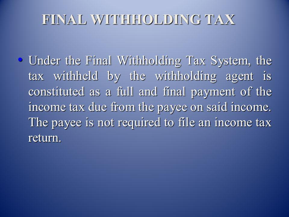 MARAMING SALAMAT PO! JERRY N. BENANING WITHHOLDING TAX DIVISION Bureau of Internal Revenue Bureau of Internal Revenue Telephone Numbers:926-93-47 927-