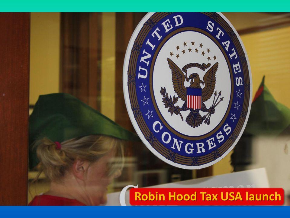 Robin Hood Tax USA launch