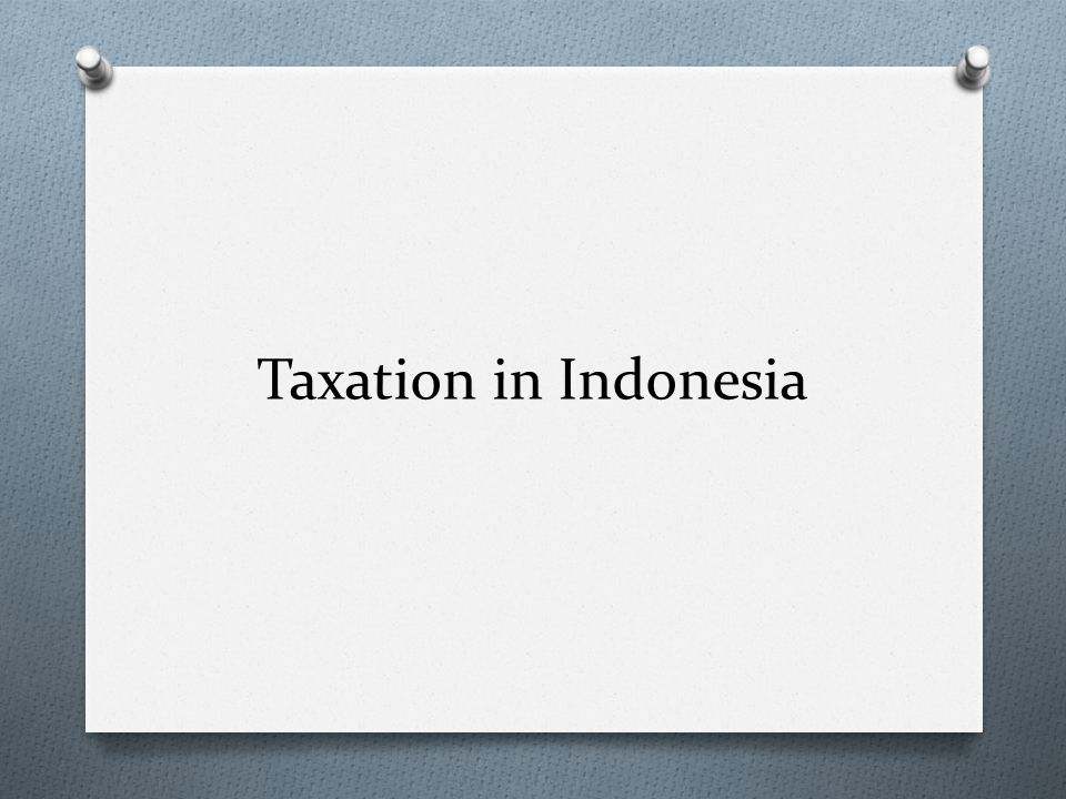 Taxation in Indonesia