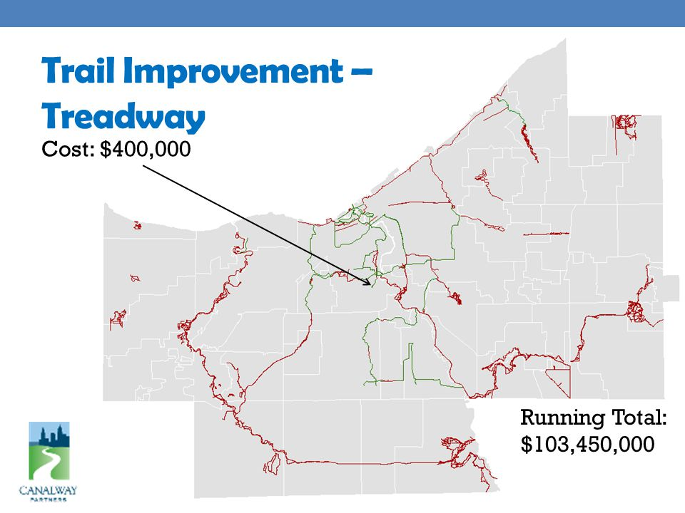 Trail Improvement – Treadway Cost: $400,000 Running Total: $103,450,000