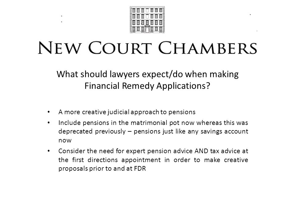 What should lawyers expect/do when making Financial Remedy Applications.