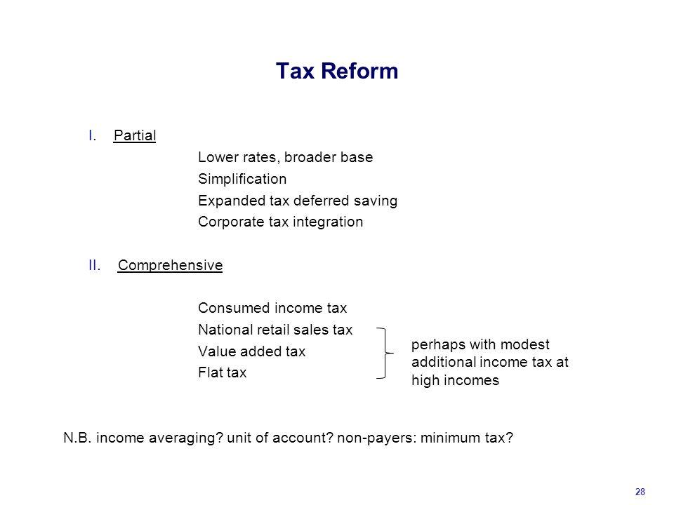 Tax Reform I.