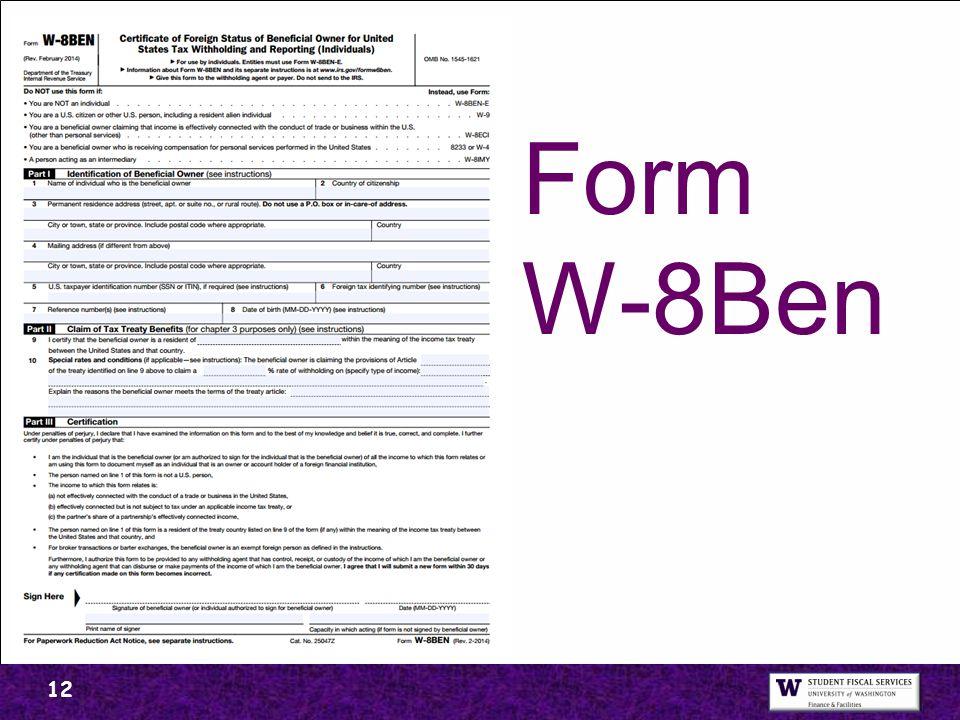 Form W-8Ben 12