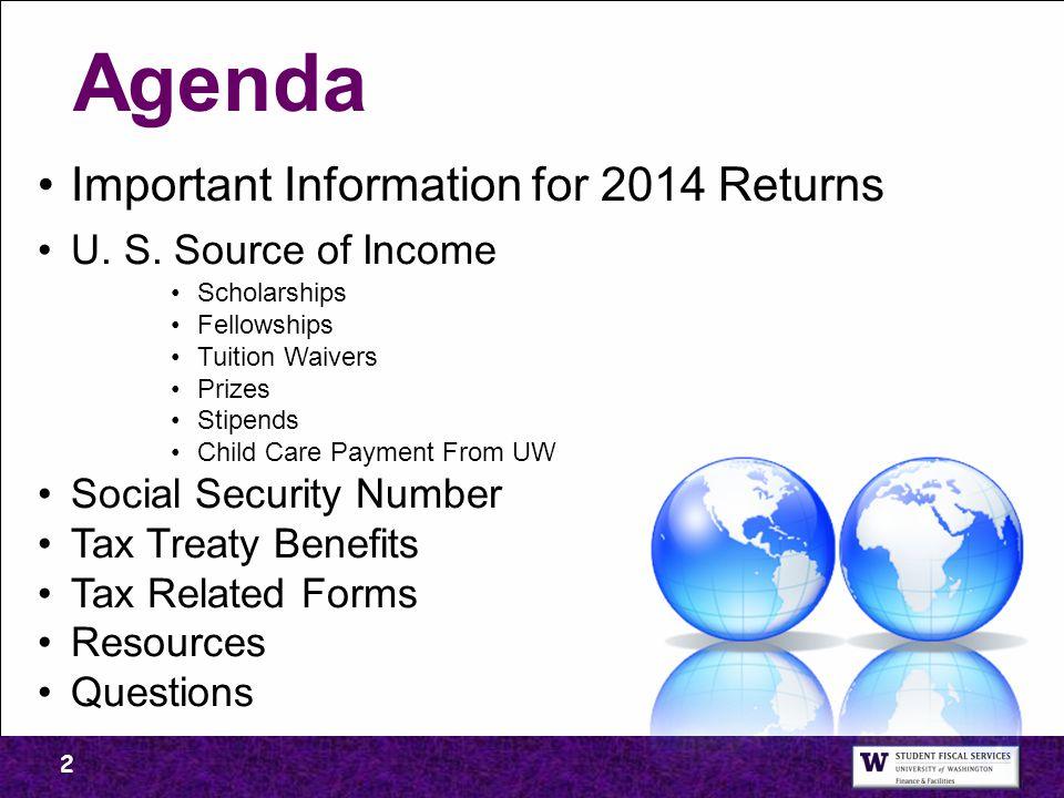 Important Information for 2014 Returns U.S.
