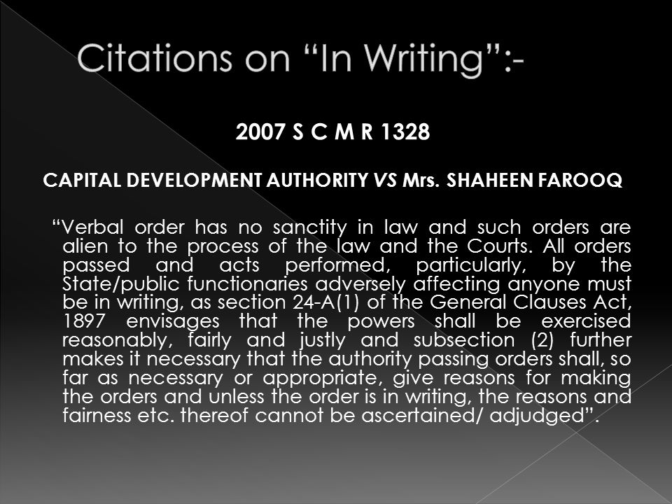 2007 S C M R 1328 CAPITAL DEVELOPMENT AUTHORITY VS Mrs.