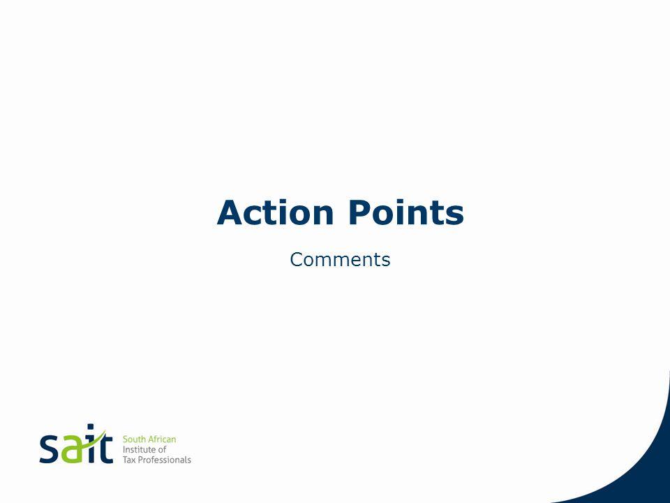 Action Points Comments