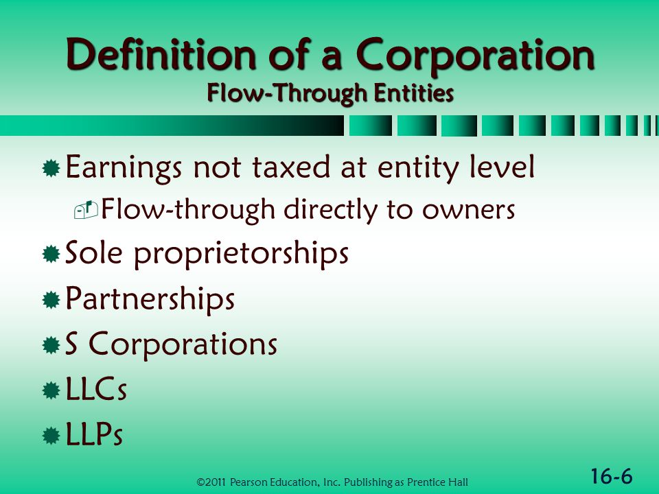 16-17 Net Operating Losses  Deductions exceed gross income for the year before NOL carrybacks  Individuals have to make adjustments for non-business income  NOL may be carried back 2 yrs & then forward 20 yrs  Corp may elect to forgo carryback & only carry NOL forward 20 yrs ©2011 Pearson Education, Inc.