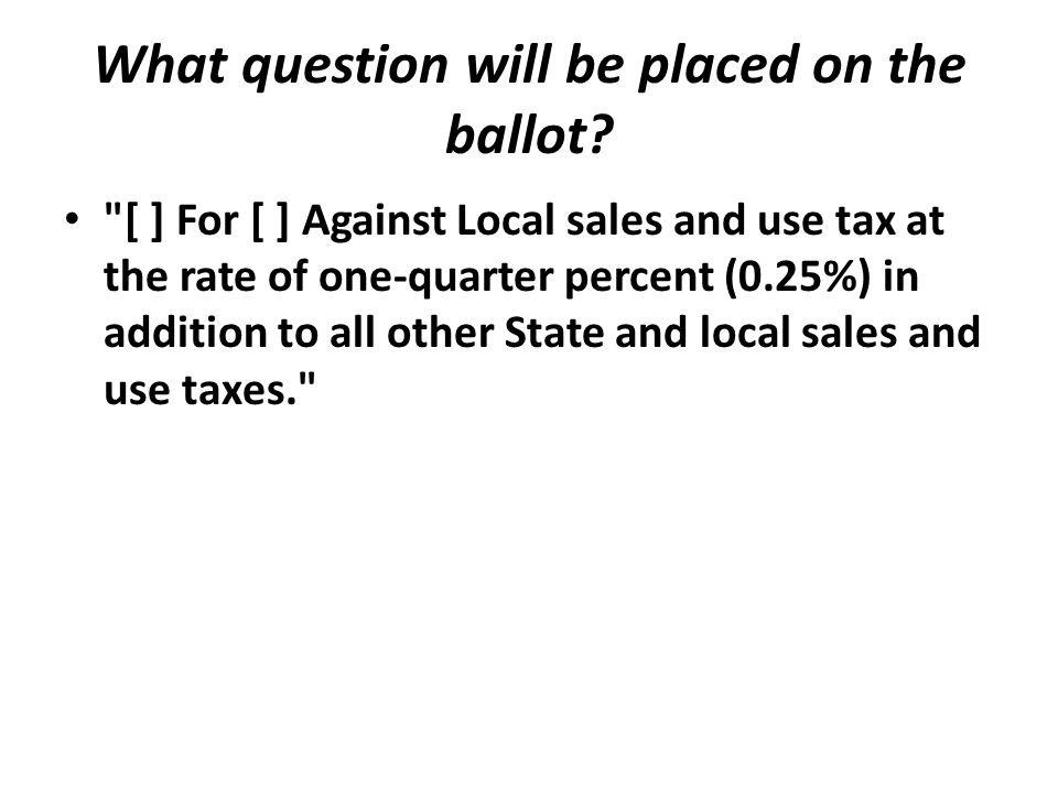 What question will be placed on the ballot?