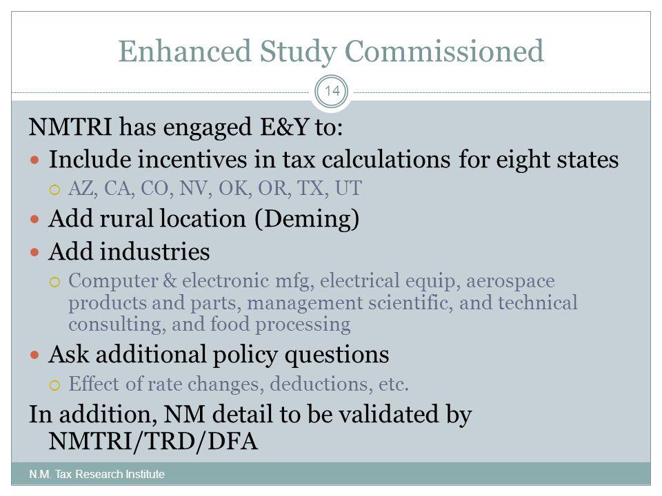 Enhanced Study Commissioned N.M.