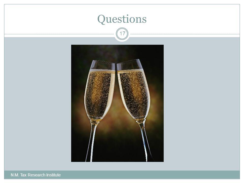 Questions N.M. Tax Research Institute 17