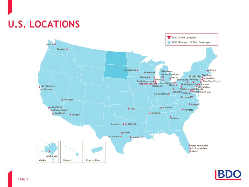 U.S. LOCATIONS Page 3