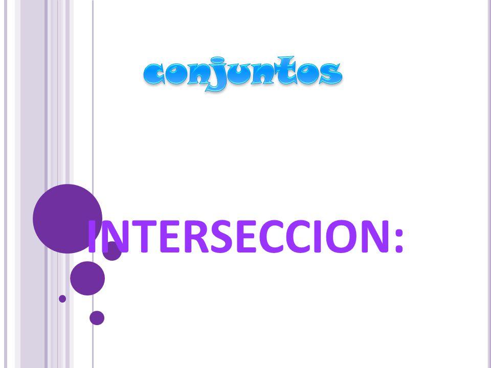 INTERSECCION:
