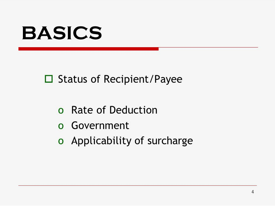 5  Residential status of Recipient/Payee oResident oNon-resident