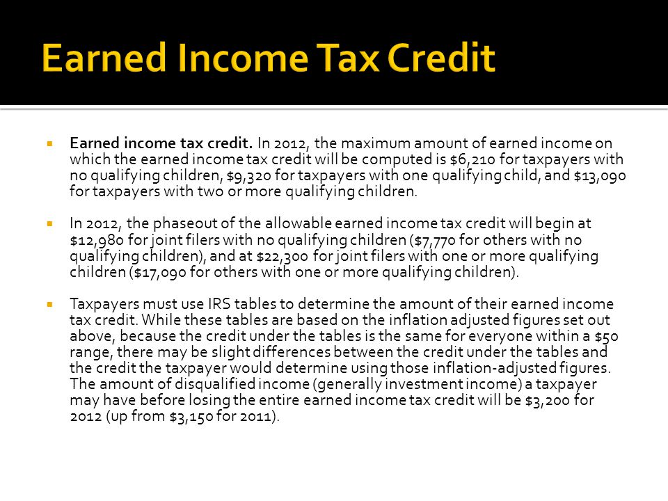  Earned income tax credit.
