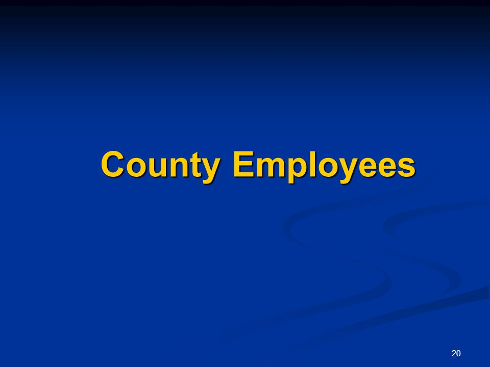 20 County Employees County Employees