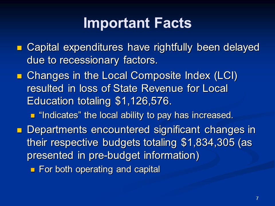 18 School Funding Since FY09, State funding has decreased from $26.6M to $20.3M.