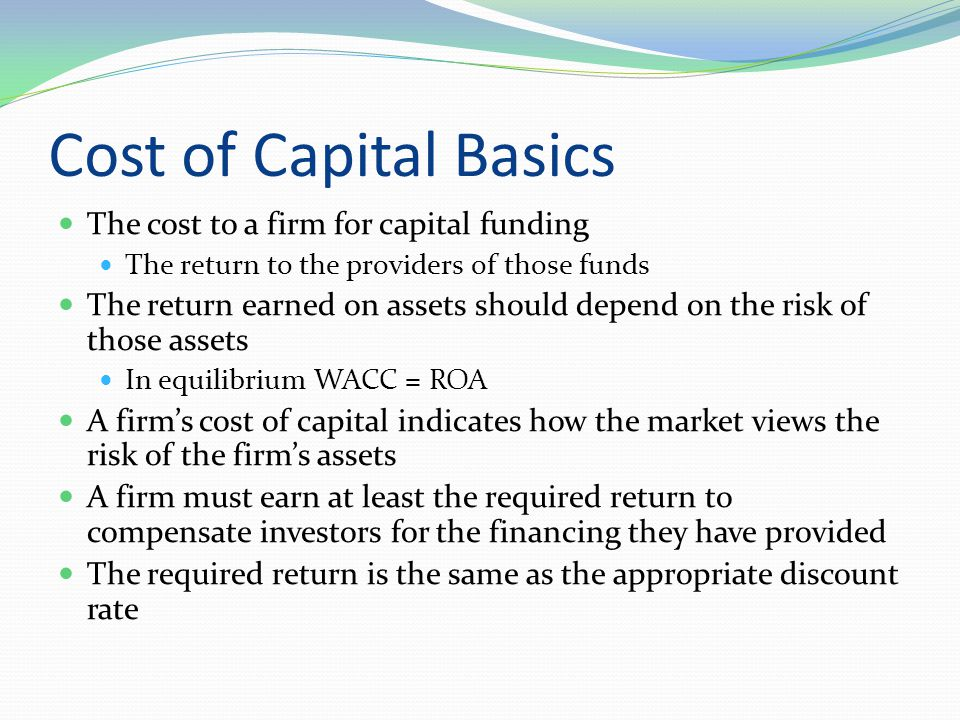WACC Capital structure weights Component costs before tax Where ( E/V) = proportion of common equity in capital structure (P/V) = proportion of preferred stock in capital structure (D/V) = proportion of debt in capital structure R E = firm's cost of equity R P = firm's cost of preferred stock R D = firm's cost of debt T C = firm's corporate tax rate